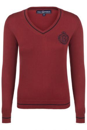 Пуловер Paul Parker. Цвет: красный