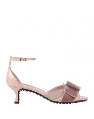 Сандалии ALESSANDRO DELL'ACQUA x TOD'S. Цвет: светло-розовый