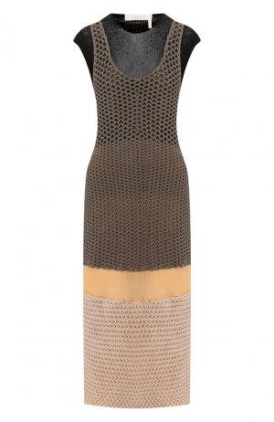 Вязаное платье Chloé. Цвет: хаки