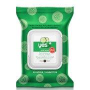 Гипоаллергенные очищающие салфетки с экстрактом огурца yes to Cucumbers Hypoallergenic Facial Wipes (упаковка из 30 шт.)