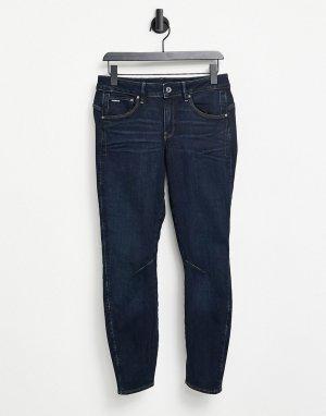 Темные выбеленные джинсы бойфренда с отворотами по краю -Голубой G-Star