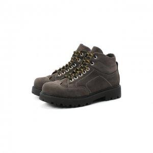 Кожаные ботинки Montelpare Tradition. Цвет: серый