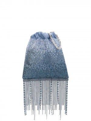 Сумка на плечо с кристаллами Atelier Swarovski. Цвет: синий