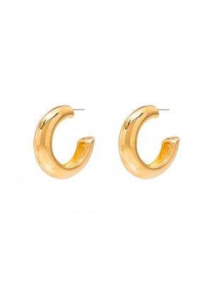 Массивные серьги-кольца Kenneth Jay Lane. Цвет: золотистый