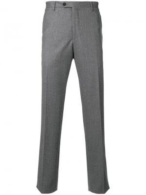 Классические брюки Corneliani. Цвет: серый
