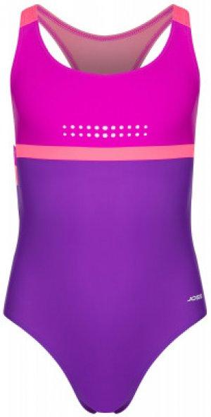 Купальник для девочек , размер 140 Joss. Цвет: фиолетовый