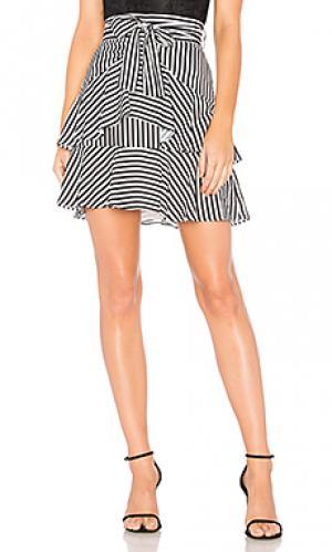 Юбка cross the line Bardot. Цвет: black & white