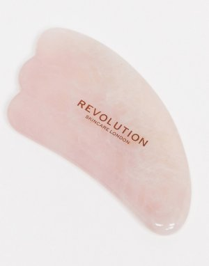 Массажер гуаша из розового кварца Skincare-Бесцветный Revolution