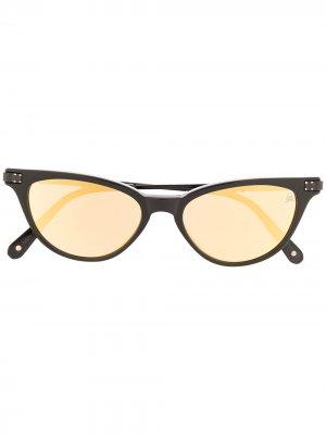 Солнцезащитные очки Katy в оправе кошачий глаз Philipp Plein. Цвет: черный