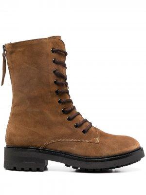 Ботинки в стиле милитари P.A.R.O.S.H.. Цвет: коричневый