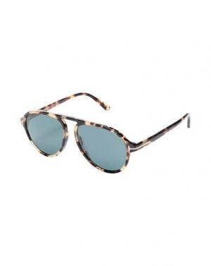 Солнечные очки TOM FORD. Цвет: темно-коричневый