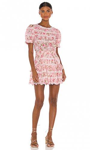 Мини платье augustine LoveShackFancy. Цвет: розовый