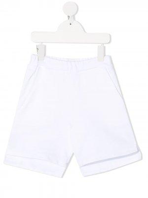 Спортивные шорты с логотипом Douuod Kids. Цвет: белый