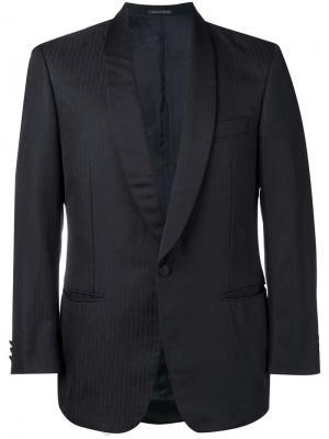 Пиджак в тонкую полоску Pierre Cardin Pre-Owned. Цвет: черный