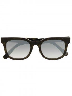 Солнцезащитные очки с накладными линзами A BATHING APE®. Цвет: черный