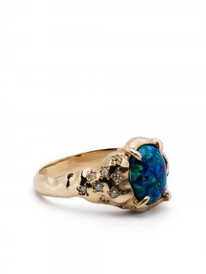 Перстень Vita из желого золота с бриллиантами SUSANNAH KING. Цвет: золотистый