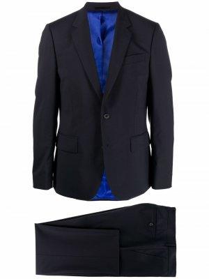 Костюм Soho с однобортным пиджаком PAUL SMITH. Цвет: синий