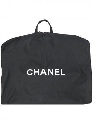 Чехол для одежды 1990-х годов с логотипом Chanel Pre-Owned. Цвет: черный