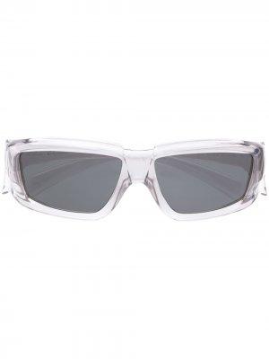 Солнцезащитные очки Rick в квадратной оправе Owens. Цвет: белый