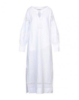 Длинное платье ALPHA STUDIO. Цвет: белый