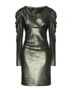 Короткое платье CLIPS. Цвет: темно-зеленый