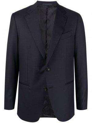 Пиджак строгого кроя Caruso. Цвет: синий