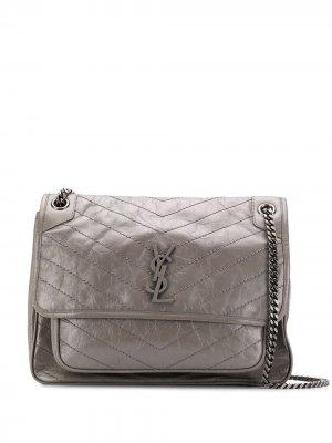 Большая сумка Nikki Saint Laurent. Цвет: серый