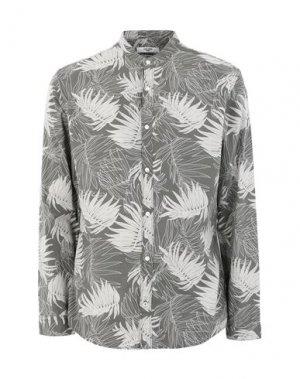 Pубашка JACK & JONES. Цвет: голубиный серый