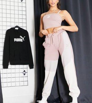 Розовые джоггеры oversized в стиле колор блок PUMA Convey – эксклюзивно для ASOS-Розовый цвет