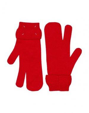 Перчатки MAISON MARGIELA. Цвет: красный