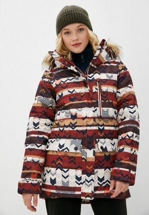 Куртка сноубордическая Protest. Цвет: разноцветный