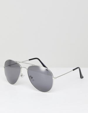 Солнцезащитные очки-авиаторы с цветными стеклами 7x-Серебряный SVNX