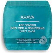 Осветляющая, омолаживающая и выравнивающая тон кожи тканевая маска Age Control Even Tone & Brightening Sheet Mask AHAVA