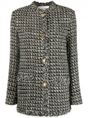 Твидовый пиджак с пайетками Valentino. Цвет: черный