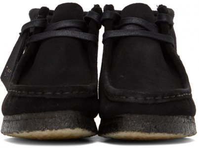Black Wallabee Boots Clarks Originals. Цвет: black suede