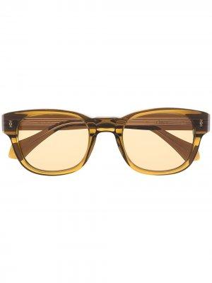 Солнцезащитные очки в квадратной оправе Cartier Eyewear. Цвет: зеленый