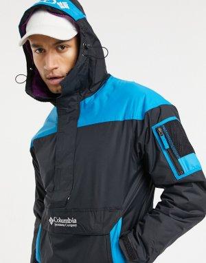 Черно-синяя куртка-пуловер Challenger-Черный цвет Columbia