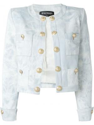 Джинсовая куртка Balmain. Цвет: синий