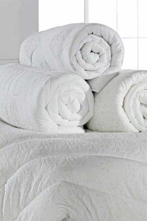Double quilt Cotton box. Цвет: white