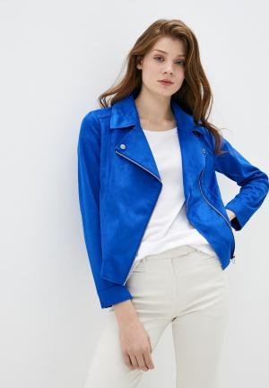 Куртка кожаная s.Oliver. Цвет: синий
