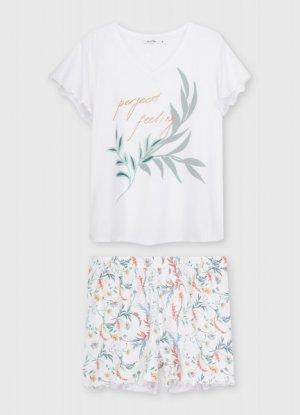Пижама из хлопка O`Stin. Цвет: белый