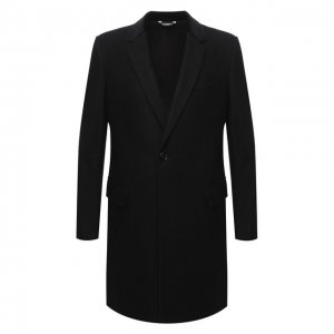 Шерстяное пальто Dolce & Gabbana. Цвет: чёрный