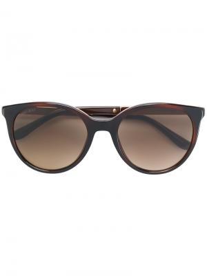 Солнцезащитные очки в оправе кошачий глаз Jimmy Choo Eyewear. Цвет: коричневый