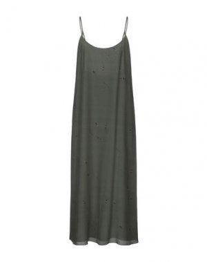 Платье длиной 3/4 BAND OF OUTSIDERS. Цвет: зеленый-милитари