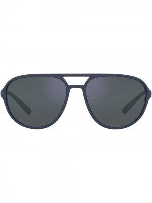 Солнцезащитные очки-авиаторы с логотипом DG Dolce & Gabbana Eyewear. Цвет: синий