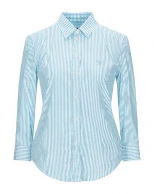 Pубашка GANT. Цвет: бирюзовый