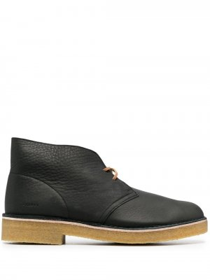 Ботинки дезерты из зернистой кожи Clarks Originals. Цвет: черный