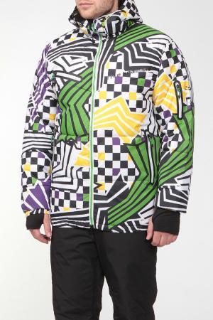 Сноубордическая куртка HYBRID Five seasons. Цвет: цветной принт