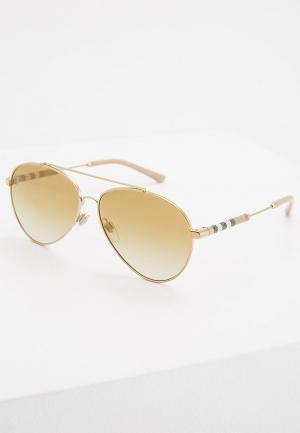 Очки солнцезащитные Burberry BE3092Q 11456E. Цвет: золотой