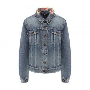 Джинсовая куртка Saint Laurent. Цвет: синий